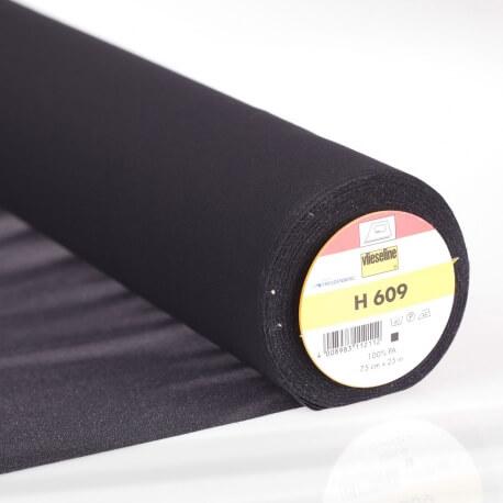 H 609 Entoilage noir thermocollant pour tissu à mailles - Vlieseline®