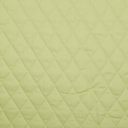 Tissu piqué de coton matelassé uni - Vert anis