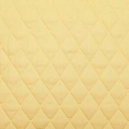 Tissu piqué de coton matelassé uni - Jaune paille