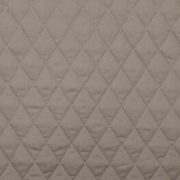 Tissu piqué de coton matelassé uni - Taupe