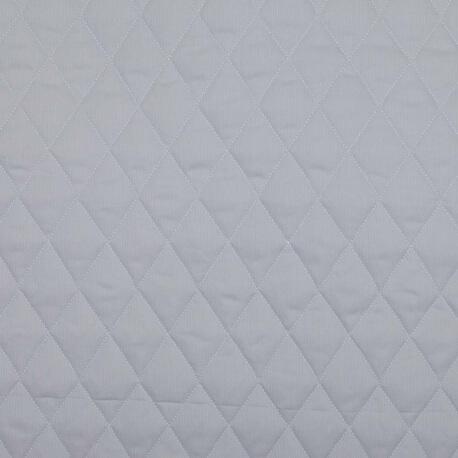 Tissu piqué de coton matelassé uni - Gris