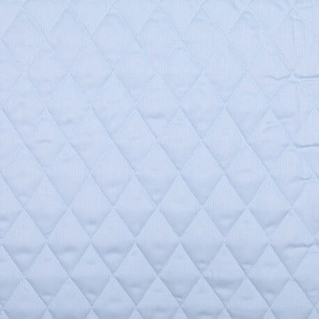 Tissu piqué de coton matelassé uni - Bleu