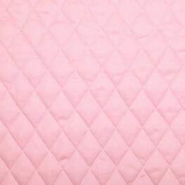 Tissu piqué de coton matelassé uni - Rose