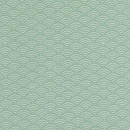 Tissu coton cretonne vague japonaise - Vert