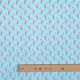 Tissu coton cretonne flamant rose - Bleu