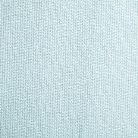 Tissu piqué de coton uni fine rayure - Vert d'eau