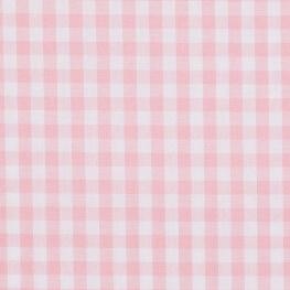 Tissu gros vichy rose & blanc