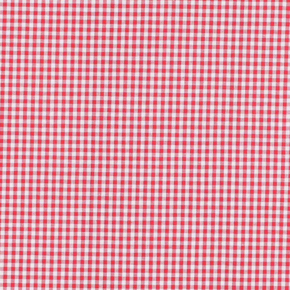 tissu petit vichy rouge blanc merceriecar. Black Bedroom Furniture Sets. Home Design Ideas