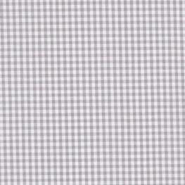 Tissu petit vichy gris & blanc