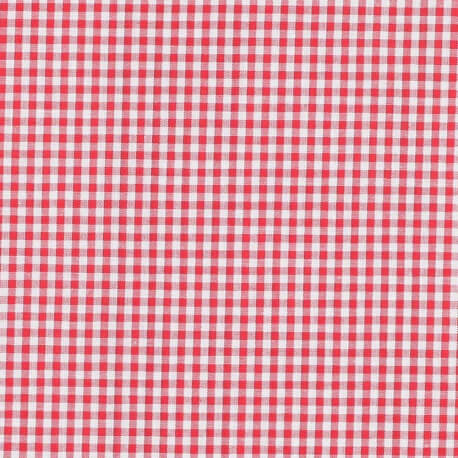 Tissu petit vichy rouge & blanc