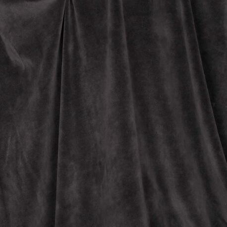 Tissu nicki velours - Noir