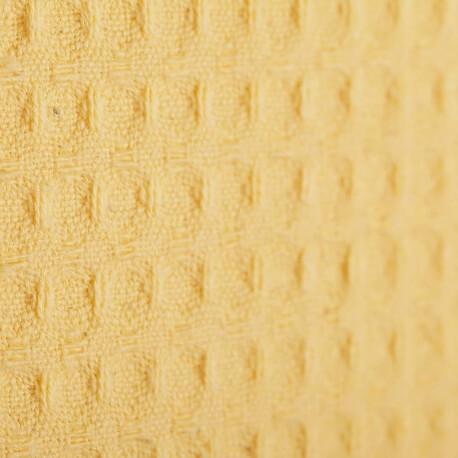 Tissu nid d'abeille - Jaune soleil