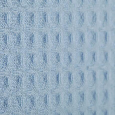 Tissu nid d'abeille - Bleu  ciel