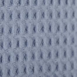 Tissu nid d'abeille - Bleu orage