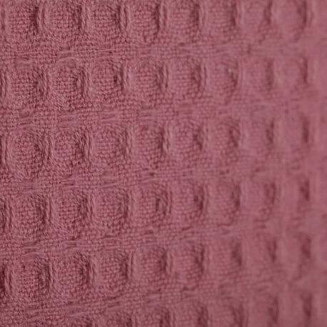 Tissu nid d'abeille - Vieux rose