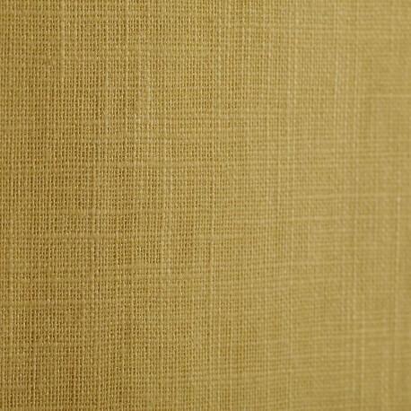 Tissu lin uni jaune acacia