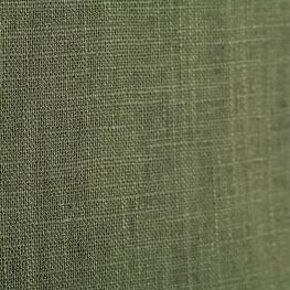 Tissu lin uni vert olive foncé
