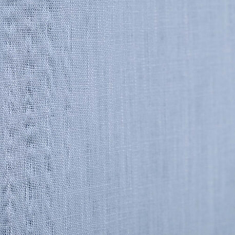 Tissu lin uni bleu orage