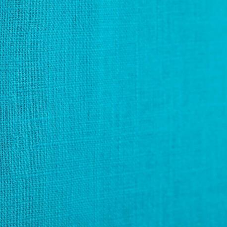Tissu lin uni bleu turquoise