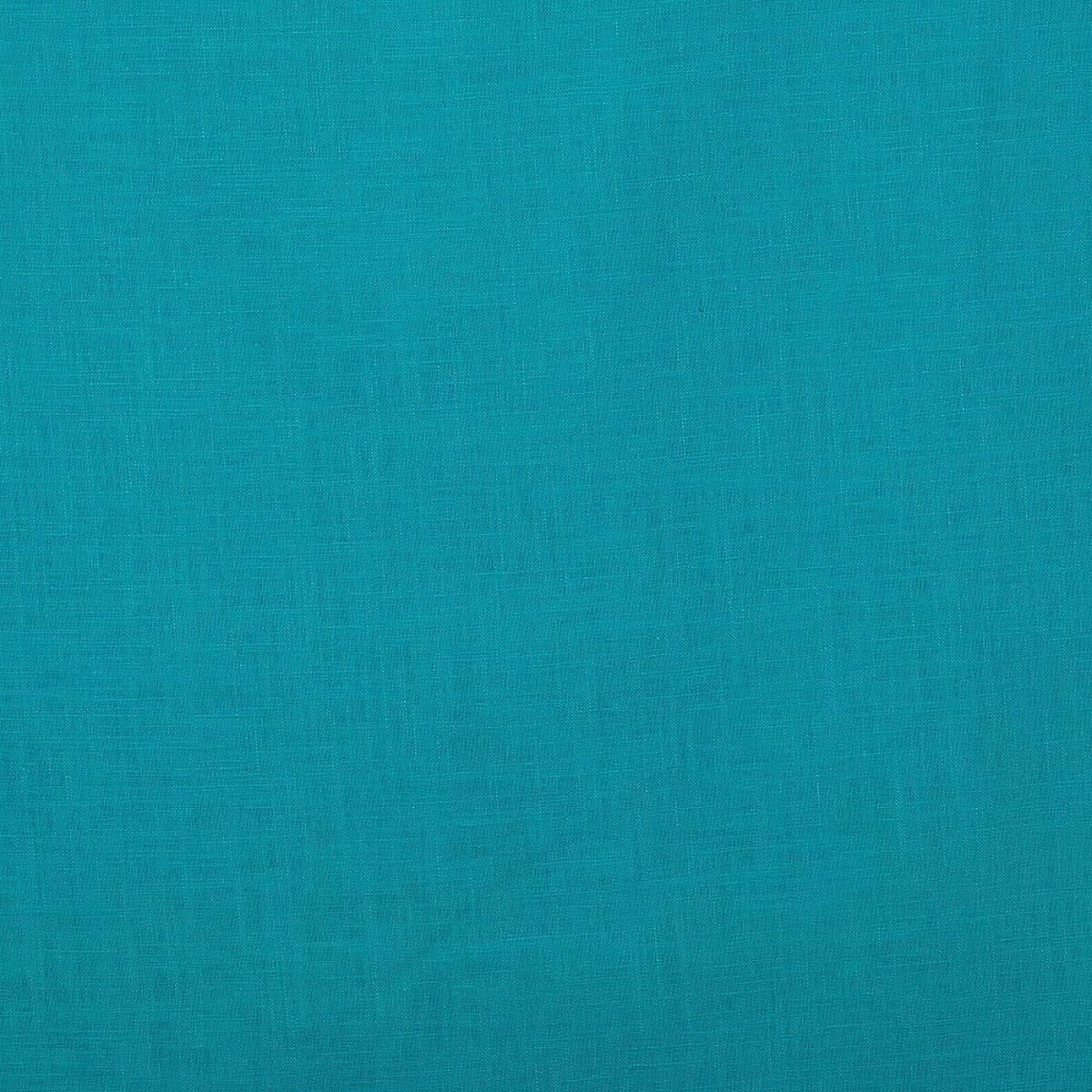 tissu lin uni bleu turquoise mercerie car fil. Black Bedroom Furniture Sets. Home Design Ideas