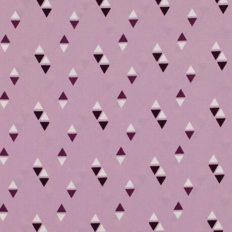 Tissu triangles - Vieux rose & prune