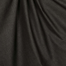 Tissu chambray uni pur coton - Noir