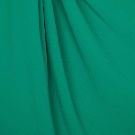 Tissu crêpe stretch uni - Vert émeraude