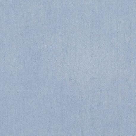 Tissu chambray viscose uni -