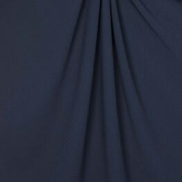 Tissu crêpe stretch uni - Bleu marine