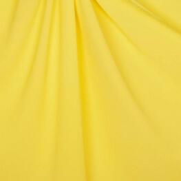 Tissu crêpe stretch uni - Jaune