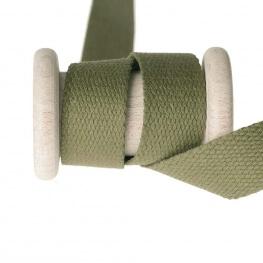 Ruban sangle coton au mètre - Vert kaki