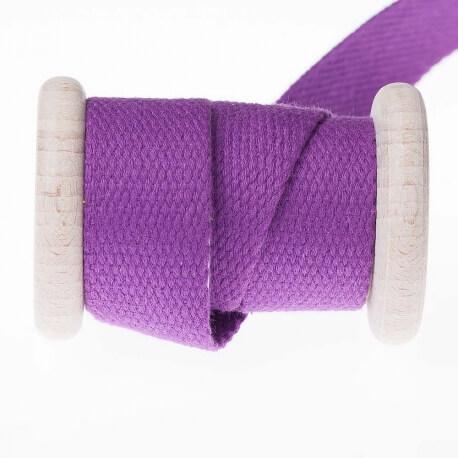 Ruban sangle coton au mètre - Violet