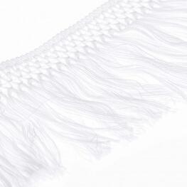 Ruban frange coton 10cm - Blanc