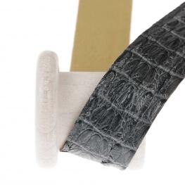 Ruban galon skin simili cuir au mètre - Gris