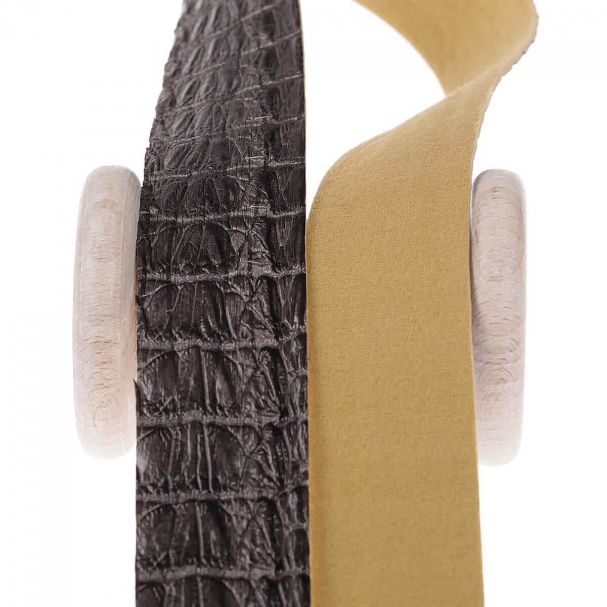 ruban galon skin simili cuir au m tre gris mercerie. Black Bedroom Furniture Sets. Home Design Ideas