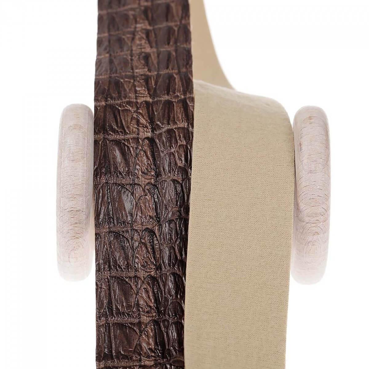 ruban galon skin simili cuir au m tre marron mercerie. Black Bedroom Furniture Sets. Home Design Ideas