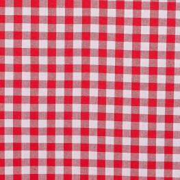 Tissu gros vichy rouge & blanc