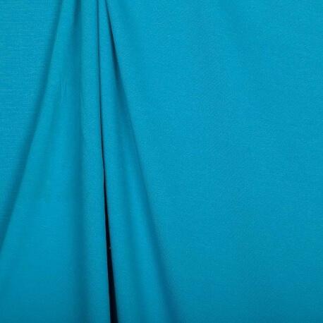 Tissu jersey lourd uni - Bleu atoll