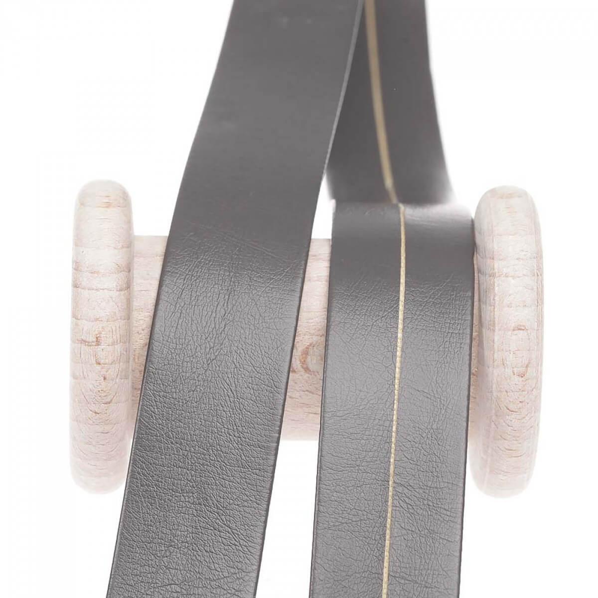 biais aspect cuir au m tre gris mercerie car fil. Black Bedroom Furniture Sets. Home Design Ideas