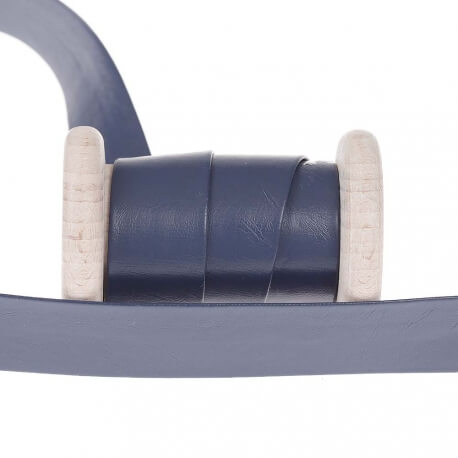 biais aspect cuir au m tre bleu marine mercerie car fil. Black Bedroom Furniture Sets. Home Design Ideas