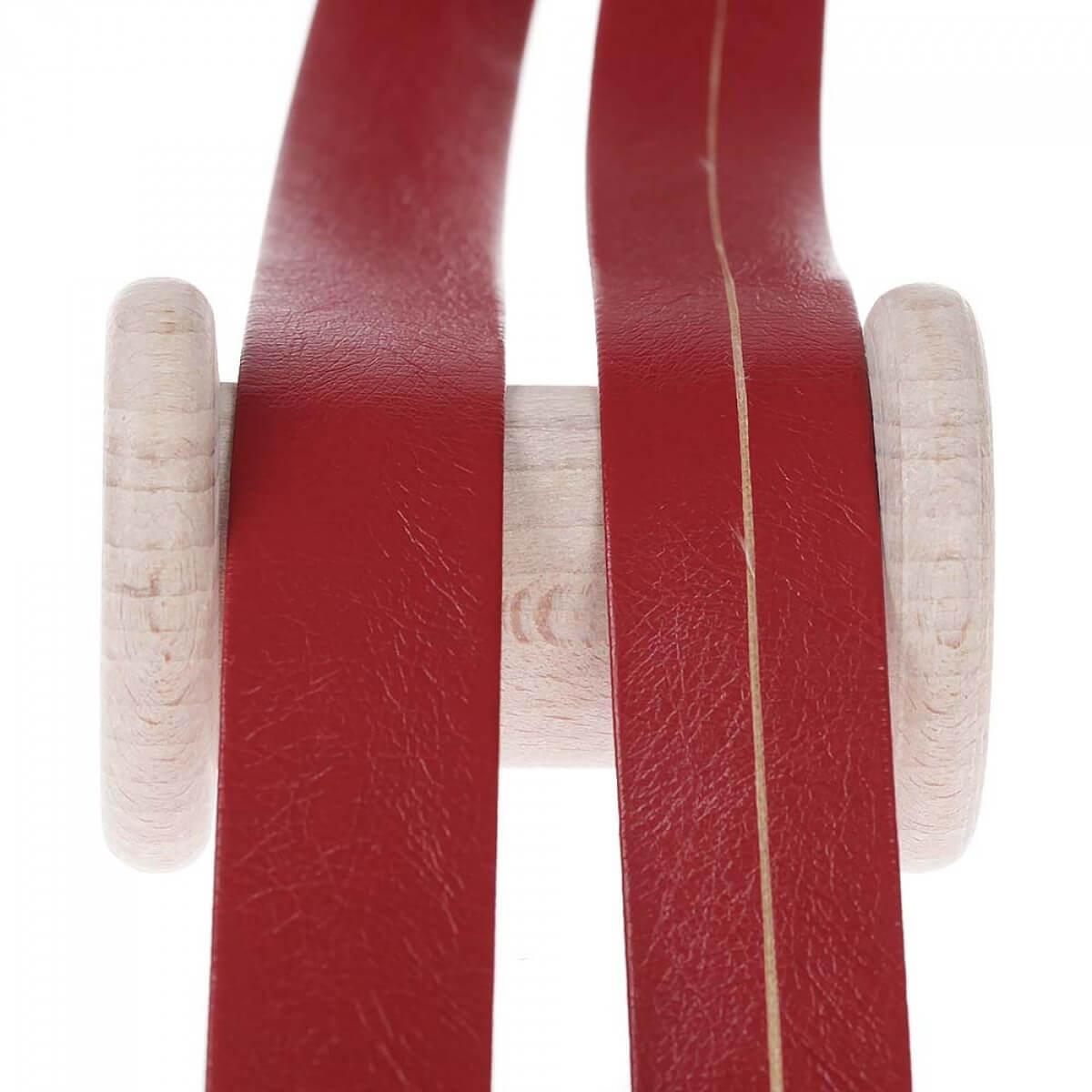 biais aspect cuir au m tre rouge mercerie car fil. Black Bedroom Furniture Sets. Home Design Ideas