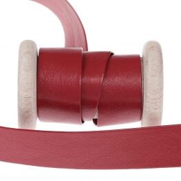 Biais aspect cuir au mètre - Rouge