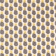 Tissu coton cretonne ananas - Noir, gris & jaune