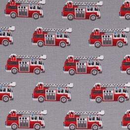 Tissu jersey camion de pompier - Gris