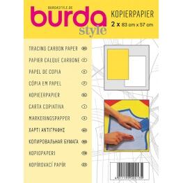 Papier calque carbone Burda - Jaune & blanc