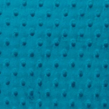 Tissu minky à pois  - Bleu