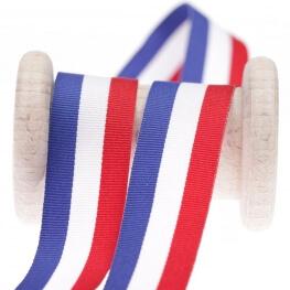 Rouleau ruban drapeau français - 10, 15 ou 25mm