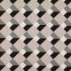 Tissu toile coton graphiques - Noir, vert de gris & blanc