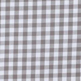 Tissu gros vichy gris & blanc