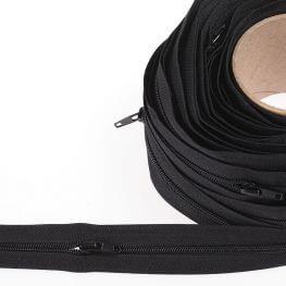 Fermeture à glissière au mètre - Noir